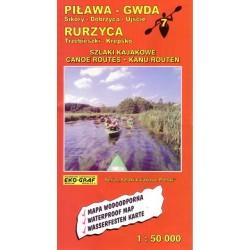 Mapa kajakowa Rurzyca Piława -Gwda